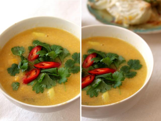 zupa kukurydziana z mulami