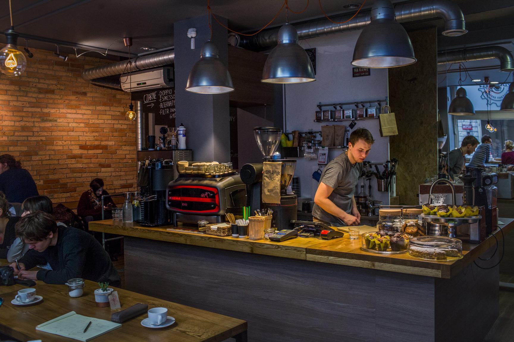 kawa speciality kawiarnia the brick coffee factory łódź