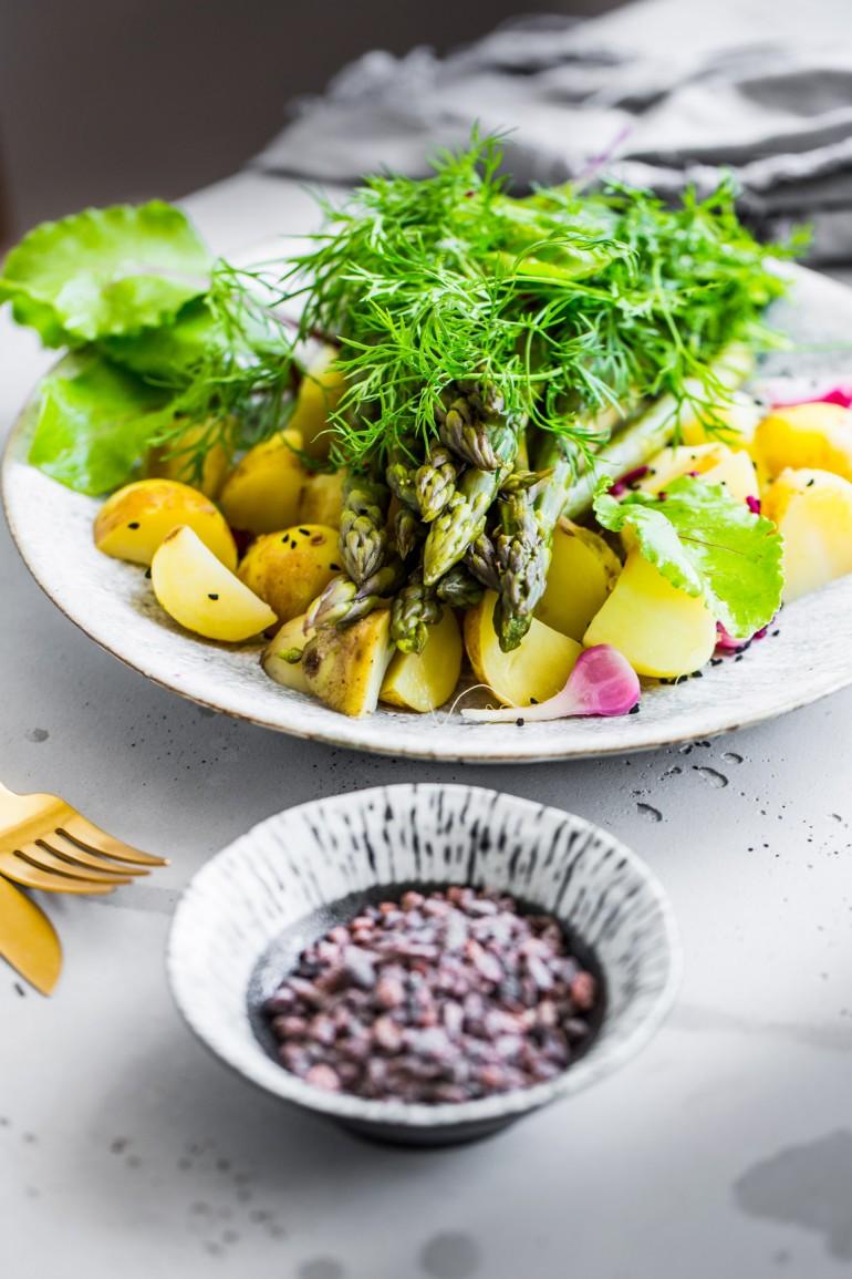 Młode warzywa na parze