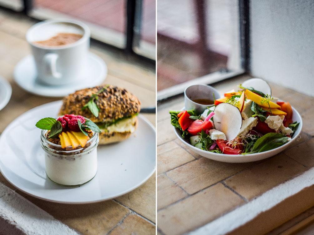 Mały zestaw śniadaniowy i sałatka lunchowa