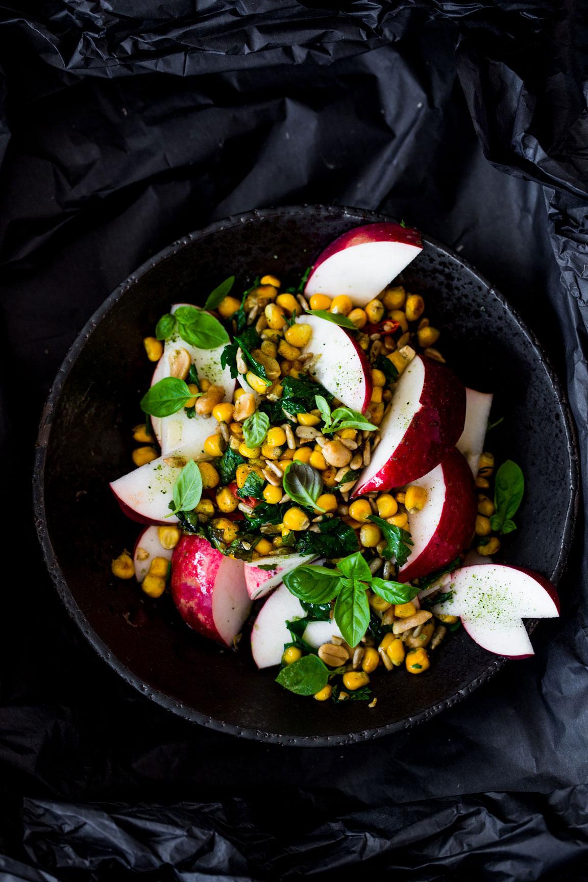 Sałatka z kukurydzy